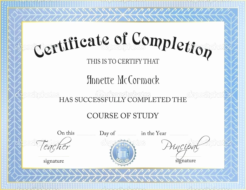 Certificate Of Completion Template Powerpoint Beautiful Template Certificate Template Powerpoint