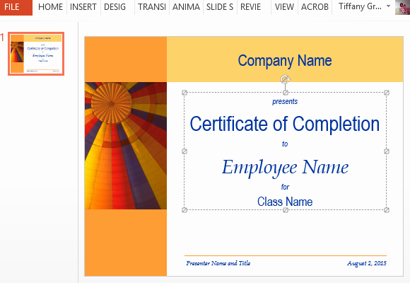 Certificate Of Completion Template Powerpoint Best Of Certificate for Training Pletion Template for Powerpoint