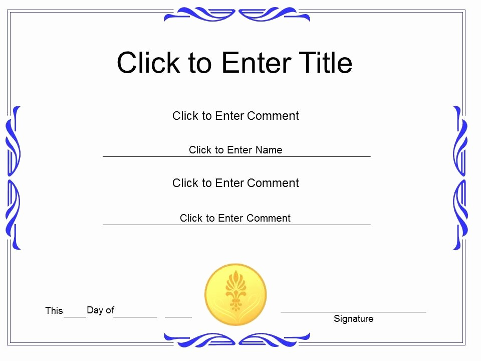 Certificate Of Completion Template Powerpoint Elegant Award Recognition Diploma Certificate Template Of