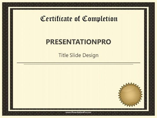 Certificate Of Completion Template Powerpoint Fresh Certificate Pletion Powerpoint Template Background