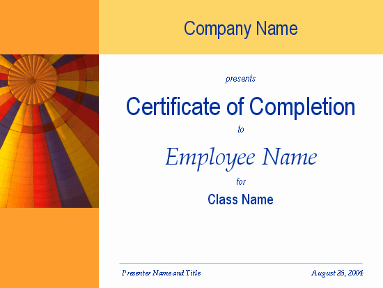Certificate Of Completion Template Powerpoint Inspirational Certificates Fice