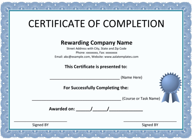 Certificate Of Completion Template Powerpoint Luxury Teacher