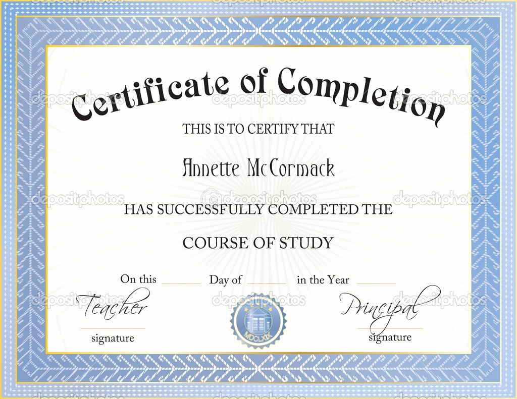 Certificate Of Completion Word Template Elegant Ms Word Certificate Pletion Template Templates Station