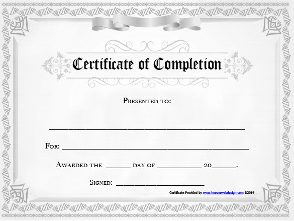 Certificate Of Completion Word Template Lovely 20 Free Certificate Of Pletion Template [word Excel Pdf]
