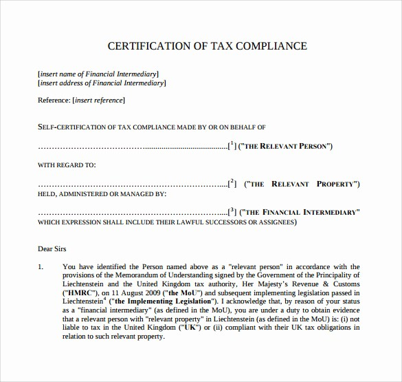 Certificate Of Compliance Template Word Awesome 13 Certificate Of Pliance Samples
