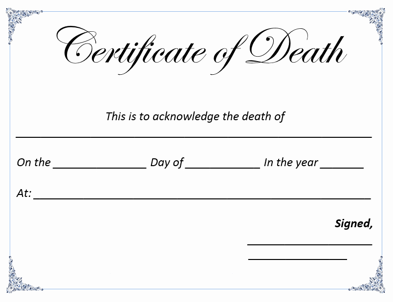 Certificate Of Compliance Template Word Elegant Death Certificate Template Microsoft Word Templates