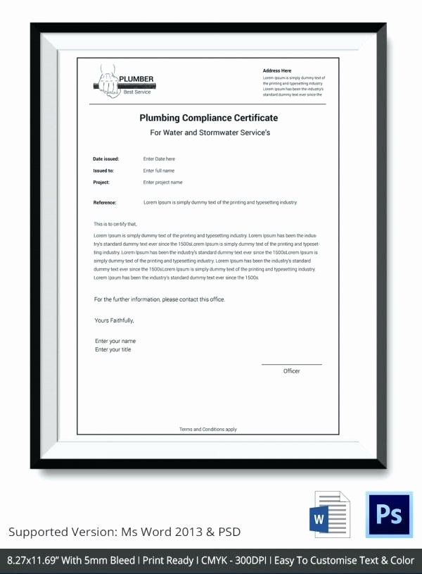 Certificate Of Compliance Template Word Inspirational Certificate Of Conformance Template Word – Flybymedia