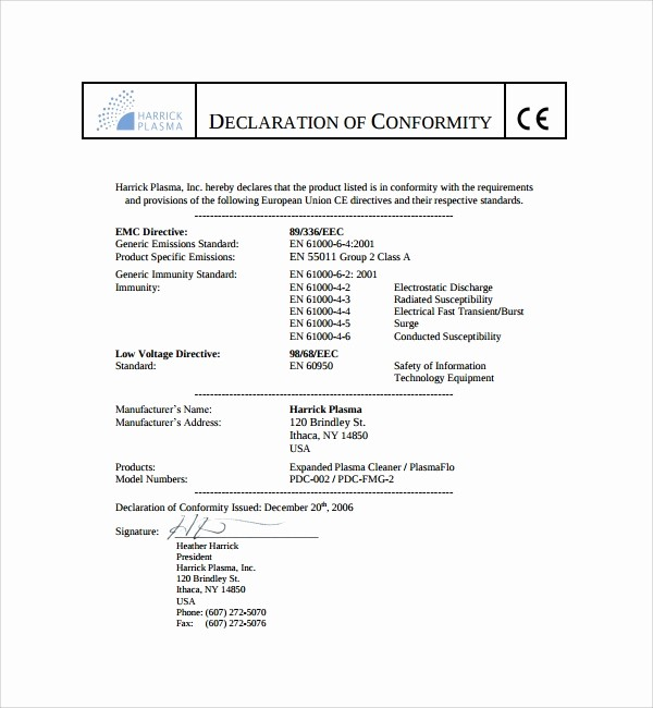 Certificate Of Compliance Template Word Lovely 13 Conformity Certificate Templates to Download