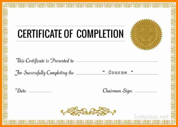 Certificate Of Course Completion Template Awesome Resume Responsibilities Sample Certificates Pletion