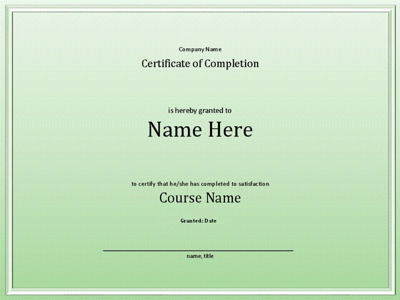Certificate Of Course Completion Template Elegant Course Pletion Certificate