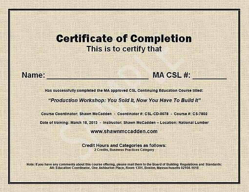 Certificate Of Course Completion Template Lovely Sample Ma Csl Ceu Course Pletion Certificate
