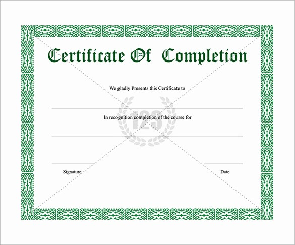 Certificate Of Course Completion Template Luxury School Certificate Templates 22 Download Documents In