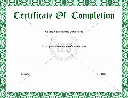 Certificate Of Course Completion Template Luxury School Certificate Templates 25 Download Documents In