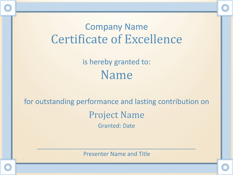Certificate Of Excellence for Employee Awesome Creative Certificate Employee Excellence Template for