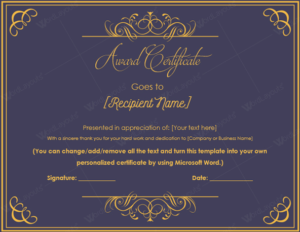 Certificate Of Excellence for Employee Beautiful 10 Best Award Certificate Templates for 2016