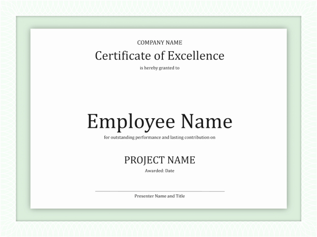 Certificate Of Excellence for Employee Best Of Business Certificate Templates Mughals