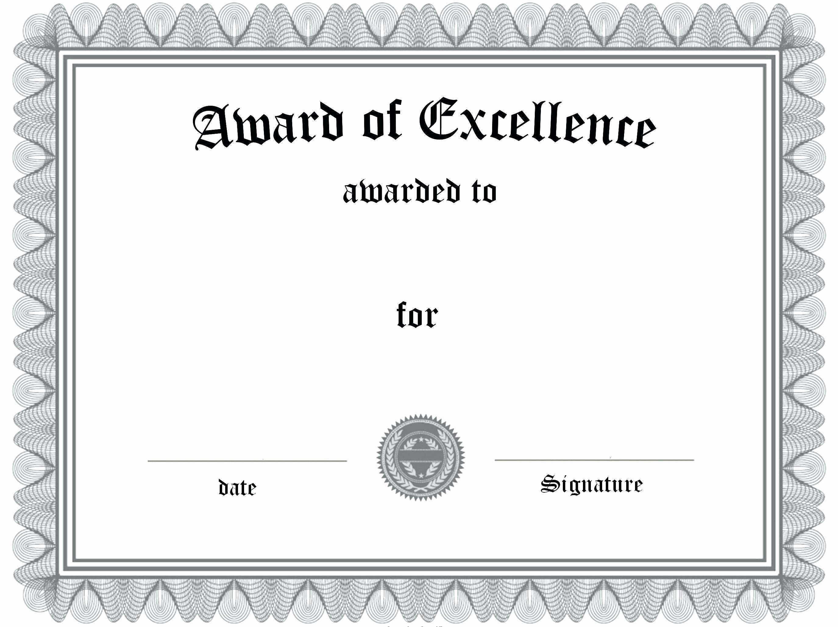 Certificate Of Excellence for Employee Elegant Template Employee Certificate Template
