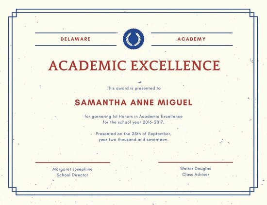 Certificate Of Excellence for Employee Fresh Academic Excellence Certificate Templates by Canva