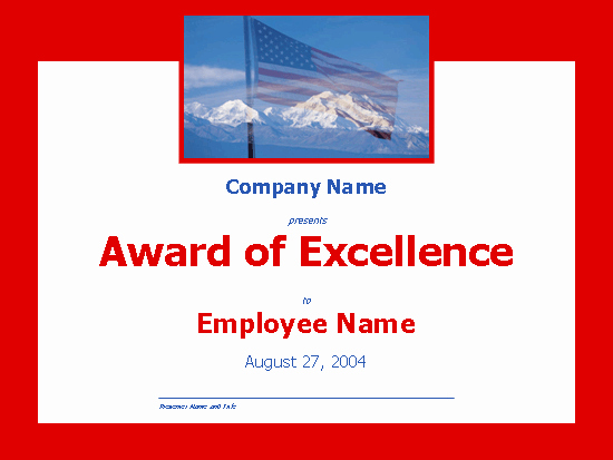 Certificate Of Excellence for Employee Fresh Certificates Fice