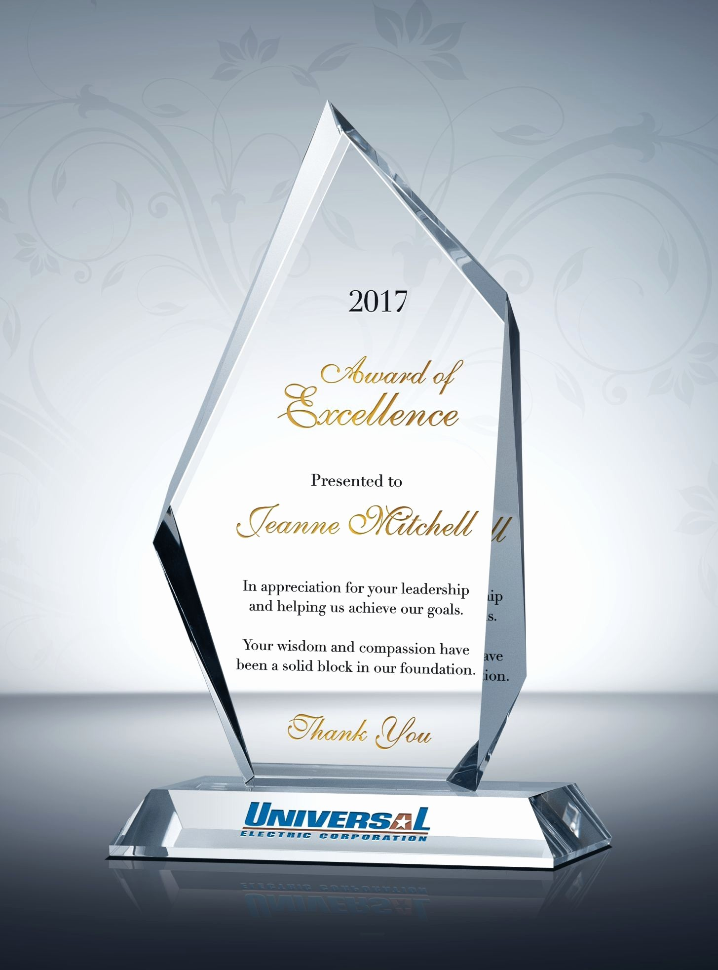 Certificate Of Excellence for Employee Fresh Peak Award Of Excellence
