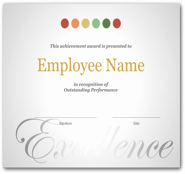 Certificate Of Excellence for Employee Fresh the 25 Best Certificate Of Recognition Template Ideas On