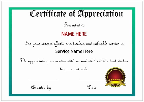 Certificate Of Excellence for Employee Inspirational 20 Free Certificates Appreciation for Employees