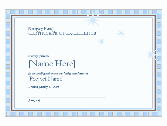 Certificate Of Excellence for Employee Inspirational Certificates Fice