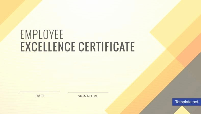 Certificate Of Excellence for Employee New 10 Employee Excellence Certificate Designs and Templates