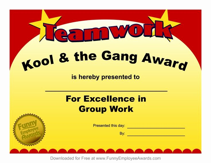 Certificate Of Excellence for Employee New Fun Award Templatefree Employee Award Certificate