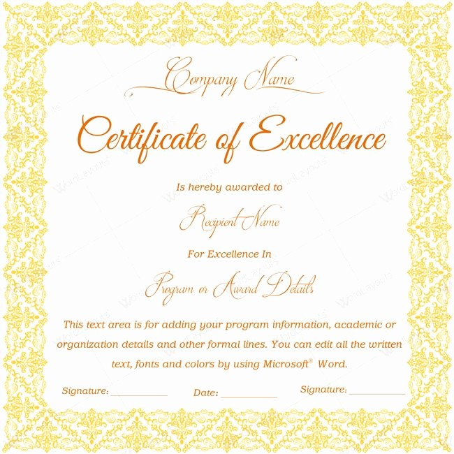 Certificate Of Excellence for Students Awesome 16 Best Certificate Of Excellence Templates Images On