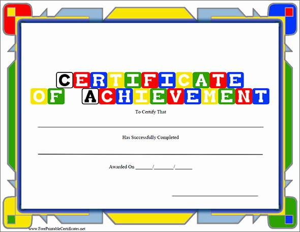Certificate Of Excellence for Students Beautiful 38 Best Certificate Of Achievement Templates