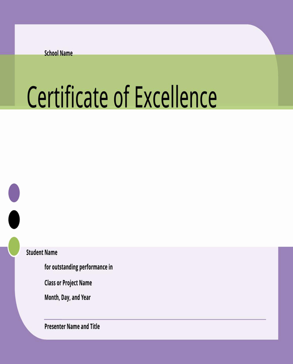 Certificate Of Excellence for Students Beautiful Download Certificate Of Excellence for Student for Free