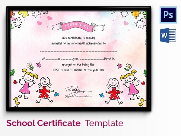 Certificate Of Excellence for Students Best Of Preschool Certificate Template 18 Free Word Pdf Psd