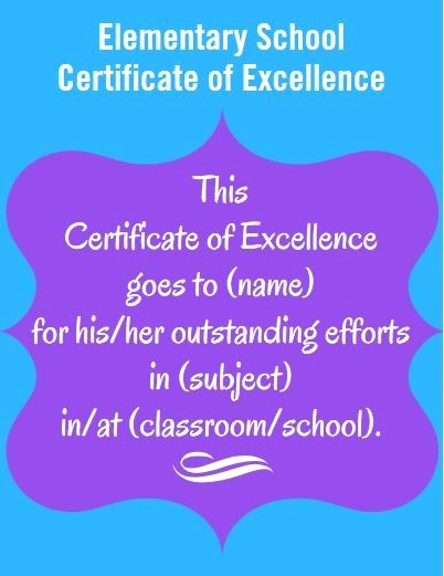 Certificate Of Excellence for Students Elegant 17 Best Ideas About Student Awards On Pinterest
