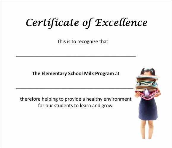 Certificate Of Excellence for Students Elegant 7 Sample Certificate Of Excellence Templates to Download