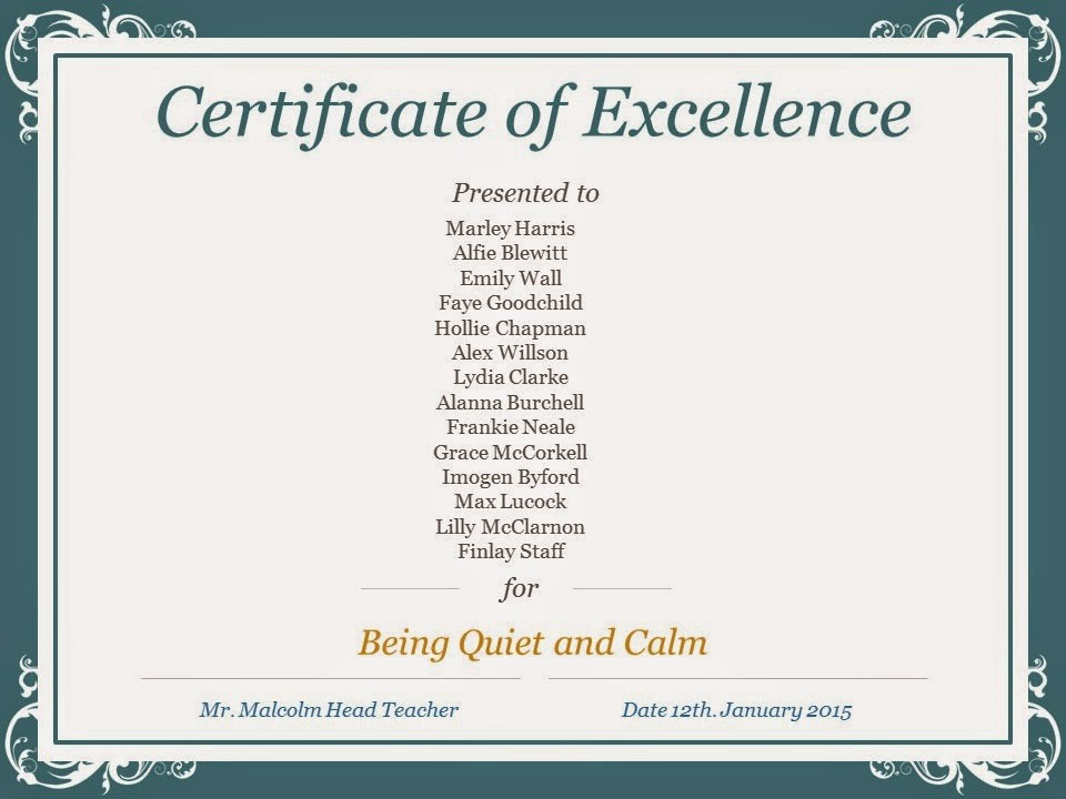 Certificate Of Excellence for Students Inspirational the Rps Blog