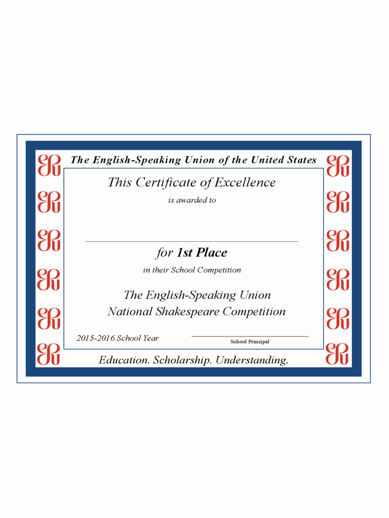 Certificate Of Excellence for Students Luxury Certificate Of Excellence 6 Free Templates In Pdf Word