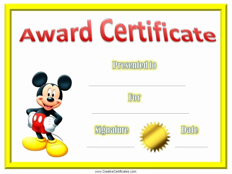 Certificate Of Excellence for Students Luxury Certificate Template for Kids Certificates for Kids
