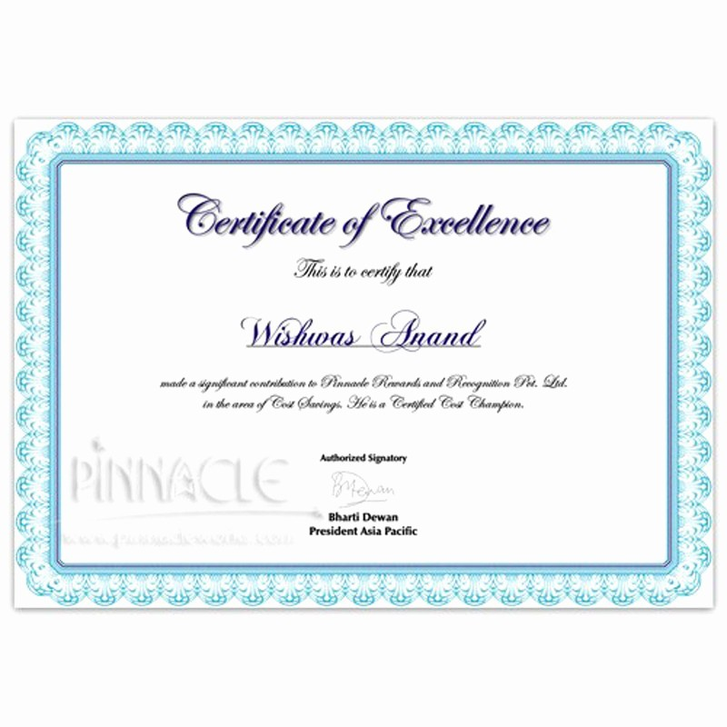 Certificate Of Excellence for Students New Certificate Of Excellence Certificate Of Appreciation