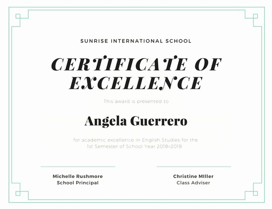 Certificate Of Excellence for Students Unique Black Gold Classic Student Certificate Templates by Canva