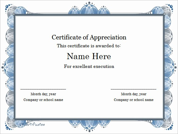 Certificate Of Excellence Template Word Best Of Word Certificate Template 49 Free Download Samples