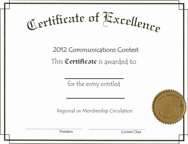 Certificate Of Excellence Template Word Fresh Free Editable Certificate Of Excellence Template Example