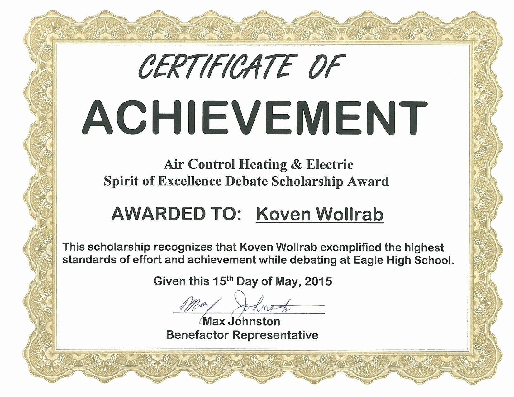Certificate Of Excellence Template Word New Template Certificate Excellence Template Word