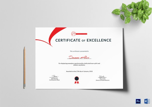 Certificate Of Excellence Template Word Unique Certificate Template 45 Free Printable Word Excel Pdf