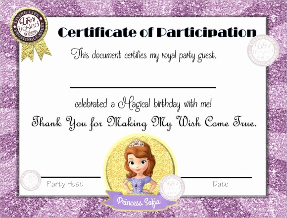 Certificate Of Participation for Kids Awesome Certificate Participation Template