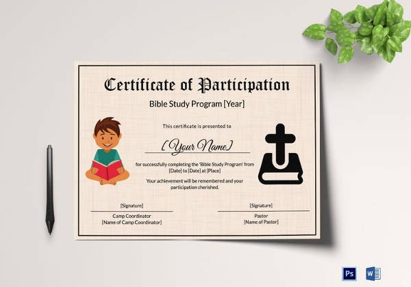 Certificate Of Participation for Kids Awesome Kids Certificate Template 12 Pdf Psd Vector format