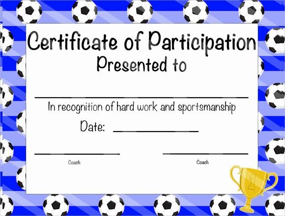 Certificate Of Participation for Kids Unique 19 Sample Participation Certificates