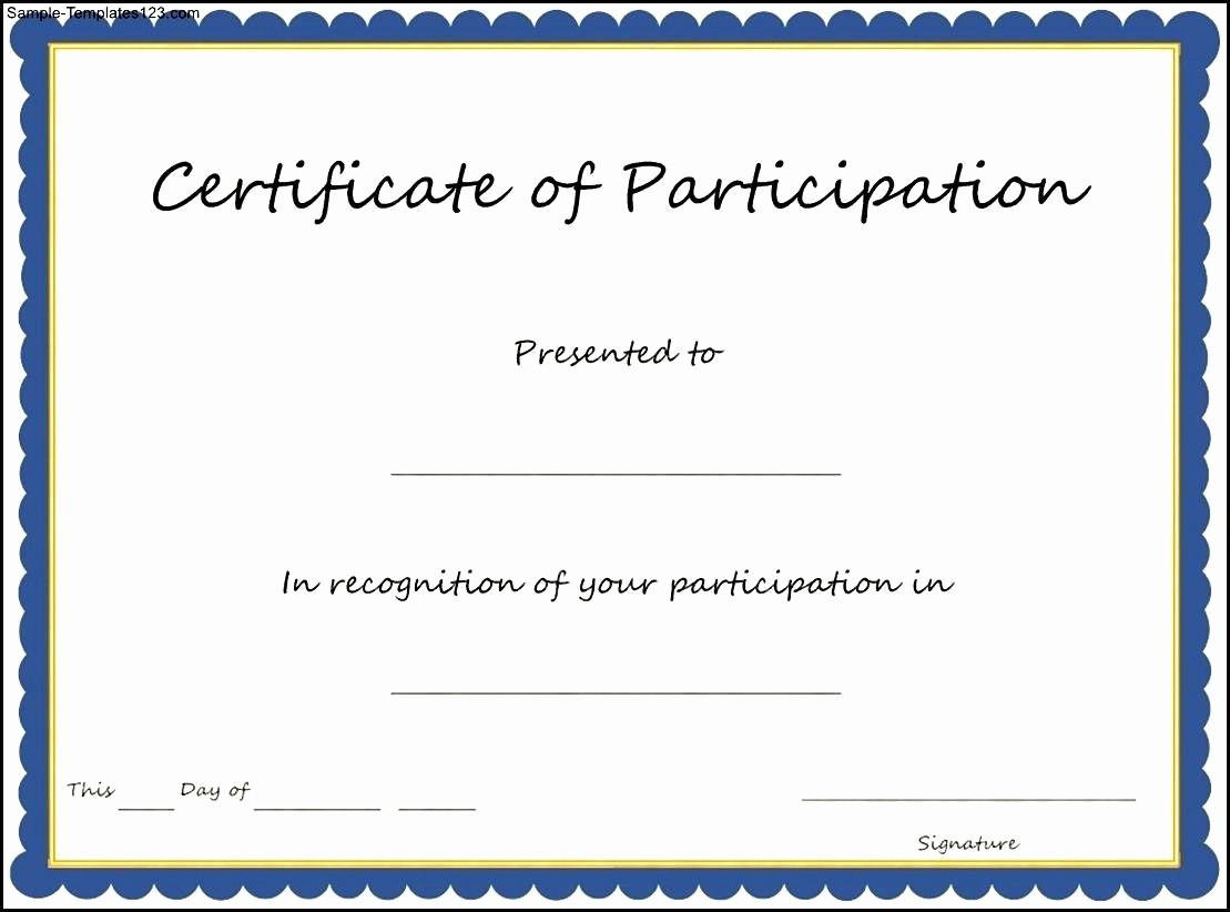 Certificate Of Participation Wording Samples Awesome Pin Oleh Joko Di Certificate Template