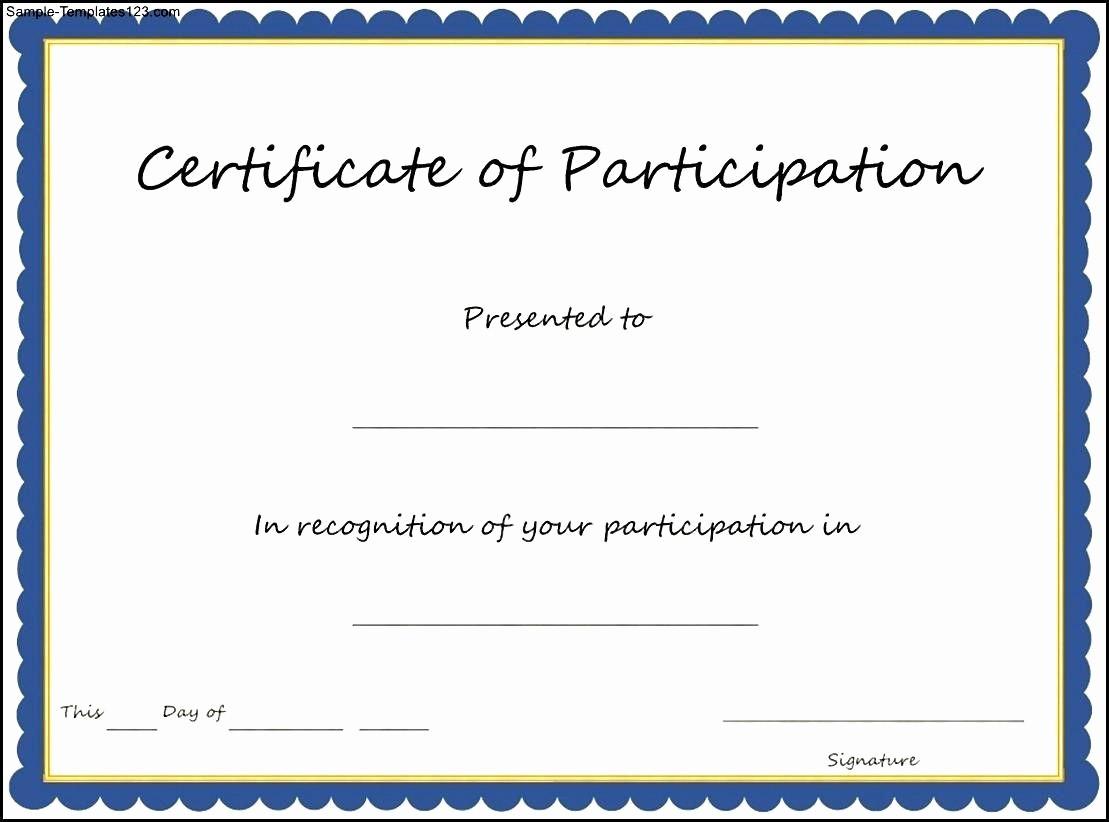 Certificate Of Participation Wording Samples Awesome Pin Oleh Joko Di Certificate Template