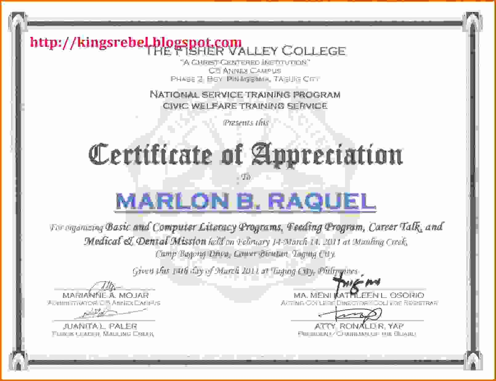 Certificate Of Participation Wording Samples Beautiful Certificate Of Appreciation Samplesreference Letters Words